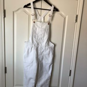 Old Navy Women's All White Overalls